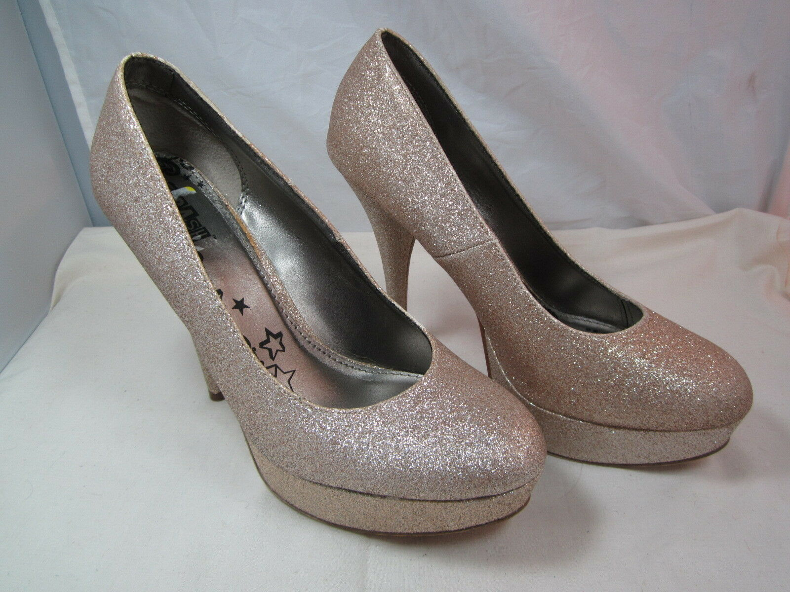 Womens Brash Sz Gold Sparkle Glitter Stiletto Pumps Shoes Sz Brash 10M 5
