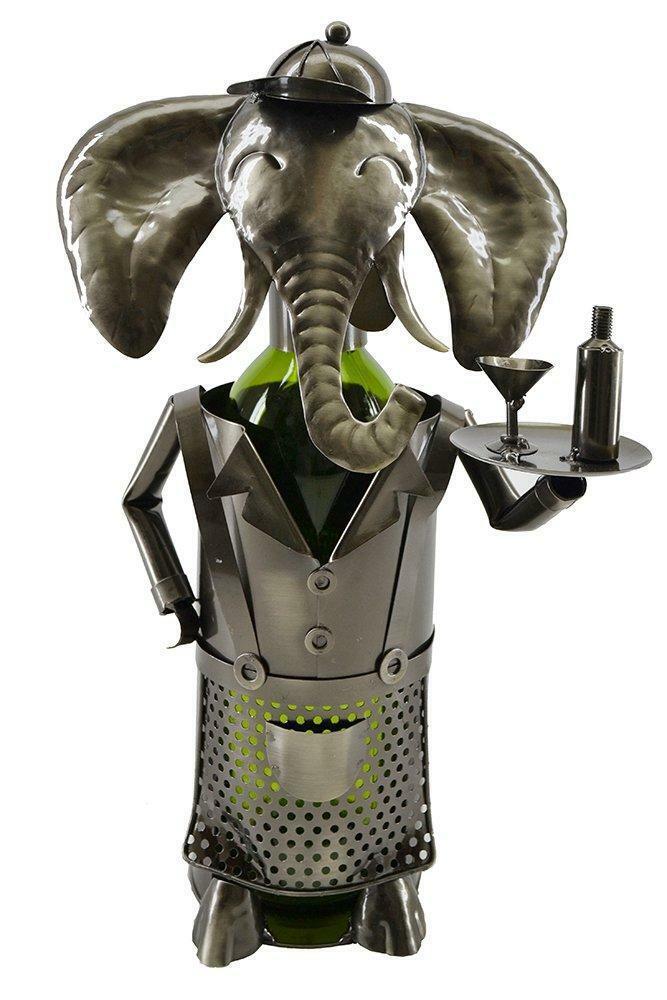 (D) Porte Bouteille Vin, éléphant Serveur, bar comptoir Décoration
