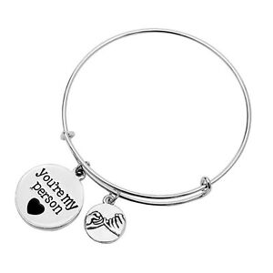 Details about Grey\'s Anatomy inspired 12 pcs lot Bracelet with quote:  You\'re My Person