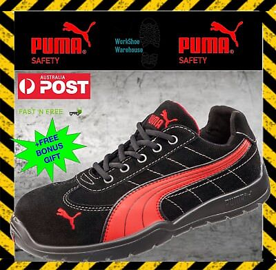 Puma Composite Toe Cap Safety Work Jogger Shoes 'Silverstone 642637' . BlkRed | eBay