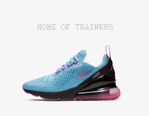 Nike Air Max 270 Light bluee Fury Black Laser Fuchsia Kids Boys Girls Trainers