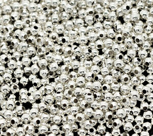 3000-Versilbert-Glatt-Rund-Spacer-Perlen-Beads-2mm-D