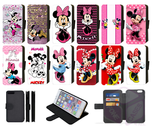 MINNIE-MOUSE-Disney-Inspired-Wallet-Flip-Phone-Case-iPhone-compatible-ALL-models