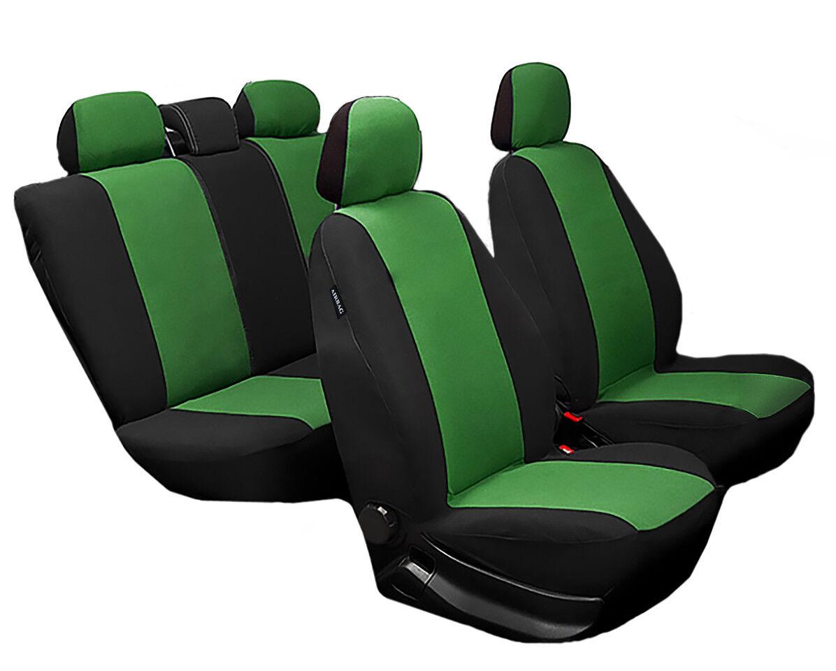 Schonbezüge Auto Autositzbezüge,Sitzbezüge Universal Nissan SCHWARZ GRÜN