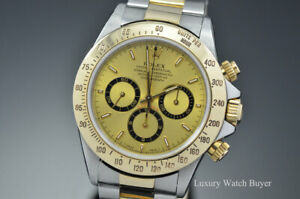 Rolex-Daytona-Zenith-Stainless-Steel-amp-18K-Yellow-Gold-Champagne-Watch-16523