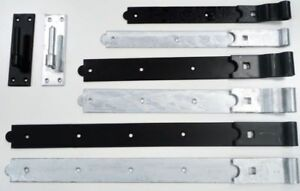 Gate-Hinges-Hook-and-Band-Heavy-Duty-Garden-Shed-Door-in-Galvanised-or-Black