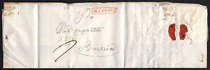 PREFILATELICA LOMBARDO VENETO 1829 da Mantova per Brescia