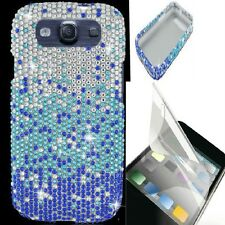 Samsung Galaxy III S3 i9300 i747 L710 DIAMOND BLING CASE+LCD Screen Protector