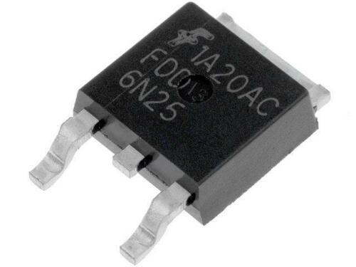 4x FDD6N25TM Transistor N-MOSFET unipolar 250V 2,6A 0,05W TO252