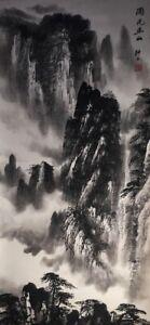 Japanese-Hanging-Scroll-Kakejiku-Landscape-Hand-Paint-Paper-Antique-A440