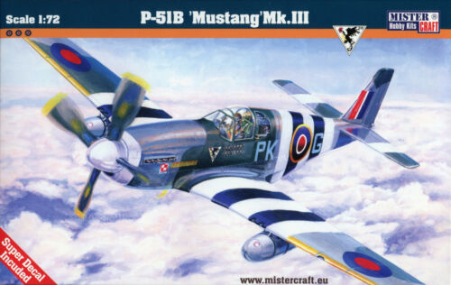 Fighter North American P-51B Mustang Mk.III # Scale 1//72 # MISTERCRAFT C-47