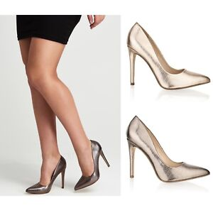 comprar popular 8e7a9 1b4a8 Detalles de Mujer Tacón de Aguja Alto Zapatos Punta Estrecha Boda Fiesta  Sandalias Números