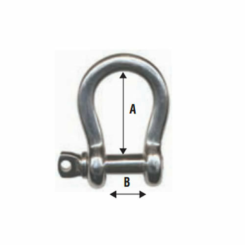 SHACKLE LYRE Ø 8 MM STAINLESS STEEL