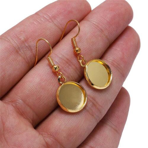 Earrings Hooks Diy Earring Trays Blank Earring Base Settings
