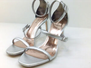 Ted-Baker-Womens-Triam-Peep-Toe-Casual-Ankle-Strap-Sandals-Silver-Size-8-0-x5P
