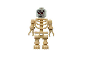 Lego Tan Skelett Weißer Kopf Rote Augen Tan Skeleton White Head