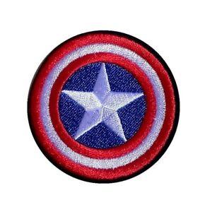 1 Écusson Brodé Thermocollant NEUF ( Patch ) - Captain America ( Ref 2 )