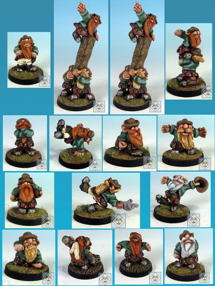 2011 Scotling Fantasy Football Dwarf Team Scottish Gnome Imp Dwarven Scotlings