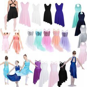 1ddd0e17d Kids Girls Gymnastics Leotard Latin Ballet Dress Dance wear Tutu ...