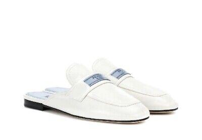 New White Prada Logo Mules | eBay