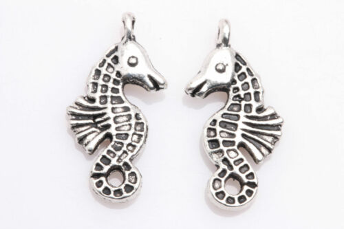 30pcs Tibet Argent Hippocampe Spacer Pendentif Charme Jewelry Finding 23x12mm
