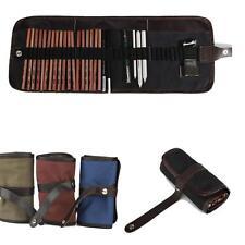 29PCS Sketch Pencils Charcoal Extender Eraser Paper Pen Cutter Drawing Set Bag