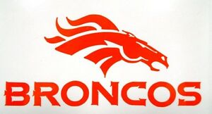Denver broncos nfl football team logo car window vinyl for Vinyl windows denver