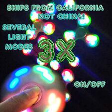 3 PACK LED Hand Spinner Tri Fidget Finger Spinner EDC Spin Stress Focus Desk Toy