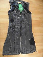 BIBA tolles gestreiftes ärmelloses Kleid schwarz grau Gr. 36 NEU  416