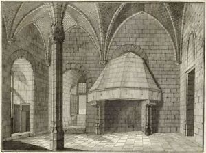 Architecture-Hall-of-Castle-of-Vincennes-Millin-Engraving-Original-18th