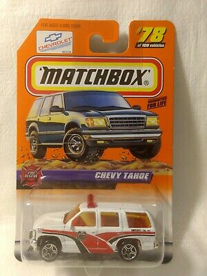 Matchbox Fire Rescue Chevy Tahoe White/Red #78 Mattel Toys & Games ...