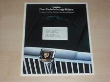 63844) Jaguar XJ 3.4 - 4.2 - 5.3 Sovereign XJS Coupe Prospekt 198?