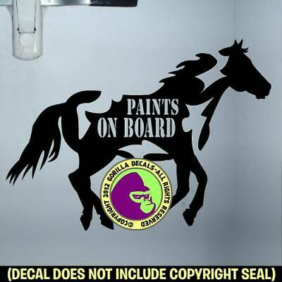 WHOA DONT TAILGATE DRESSAGE On Board Caution Trailer Vinyl Decal Sticker A