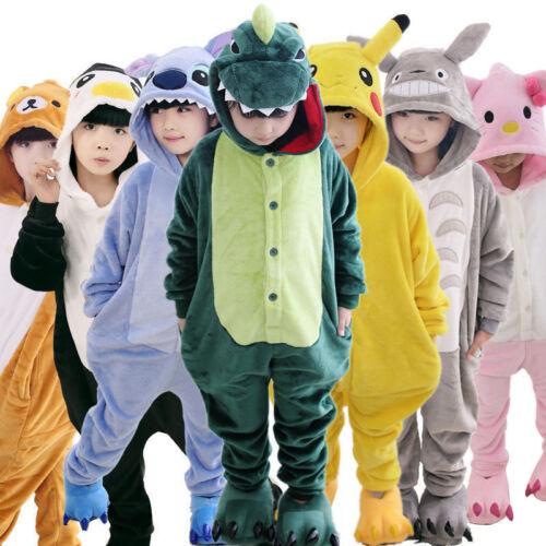 Pikachu Kids Gifts Cartoon Animal Flannel Pajamas Boys Girls Pijamas Christmas