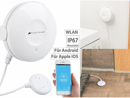 app notifications WIFI Signal WIFI VisorTech Water Detector with External Sensor