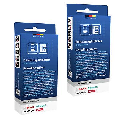 2 x Tassimo Bosch Decalcificazione Coffee Maker Macchina DECALCIFICANTE Cleaner Compresse 311530
