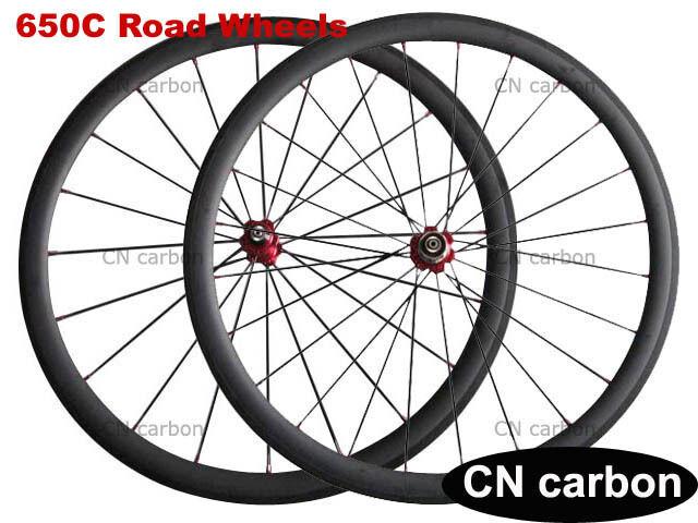 650C 38mm  Clincher Tubeless Racing Bike Carbon Fiber Road Bicycle Wheels  online discount