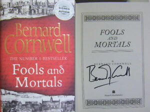 Signed-Book-Fools-and-Mortals-by-Bernard-Cornwell-First-1st-Edition-Hdbk-2017