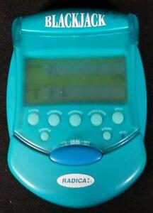 Radica Flip-Top Poker Electronic Handheld Travel Card Game 2001 EUC Pocket