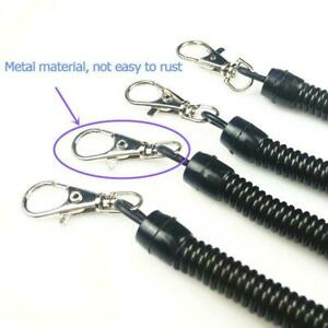 Metal-Spiral-Key-Chain-Retractable-Clip-Ring-Stretchy-Spring-Keyring-Coil-E8V9