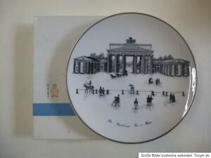 Image Is Loading KPM Berlin Porcelain Plate Wall Brandenburg Gate