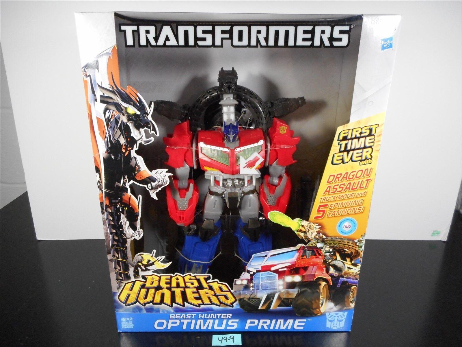 Comme neuf  Transformers Prime Beast Hunters Optimus Prime Dragon Assault 13.5  49-9