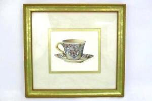 Carolyn-Shores-Wright-Framed-Art-Print-Rose-English-Bone-China-Tea-Cup