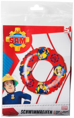 Feuerwehrmann Sam Kinder Schwimmring Schwimmreifen 3D Badering Aufblasbar Pool