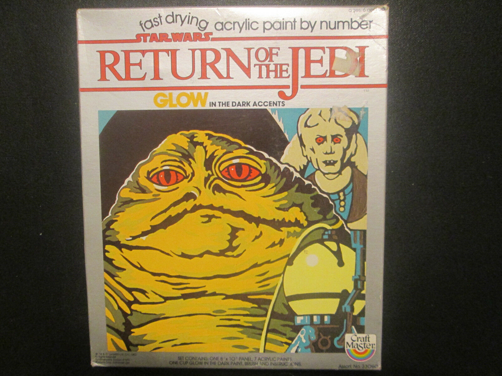 Jabba The Hutt 1983 Craft Master Paint By  Number estrella guerras Return Of The Jedi  preferenziale