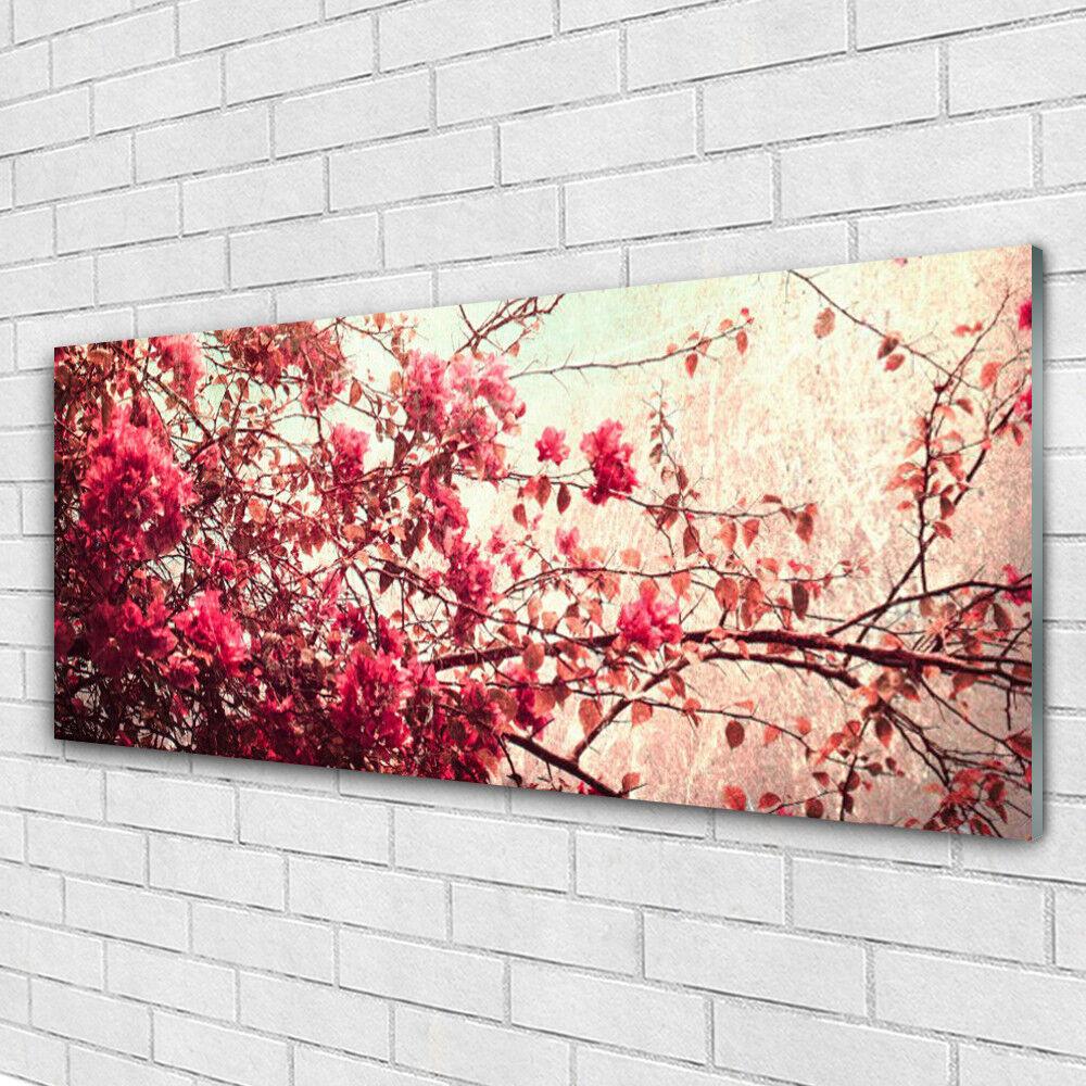 Acrylglasbilder Wandbilder aus Plexiglas® 125x50 Zweige Blätter Natur