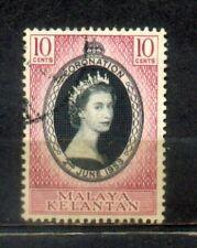 1953 Malaya Malaysia Kelantan 10c Coronation