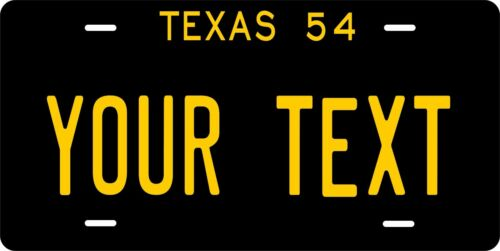 Texas License Plate Personalized Custom Auto Car Bike Moped Motorcycle Tag