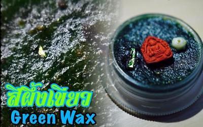 Green wax 7th heaven floor batch4 Phra Arjarn O Thai Buddha Amulet Love Charming