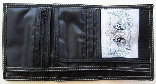 AMPLIFIED Totenkopf GOTHIC DARK SPIRIT Geldbeutel Börse Wallet Klettverschluß